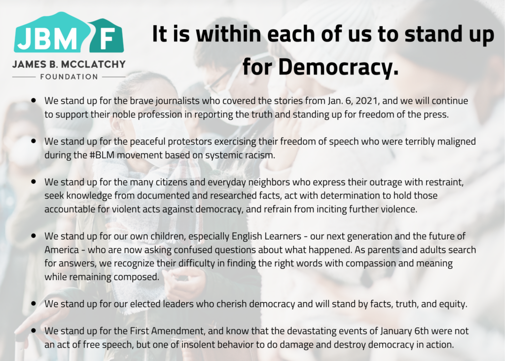 Stand up for democracy