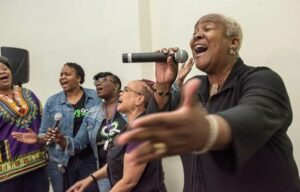 Pastor Trena Turner singing